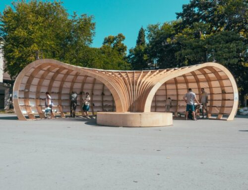 Rapana: la prima biblioteca di strada costruita con la progettazione parametrica